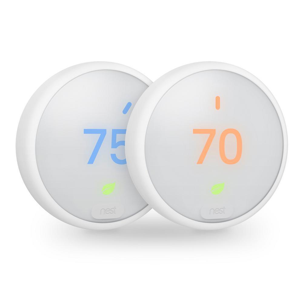 2-Pack T4000ES2X-K White - Google Nest Learning Thermostat E